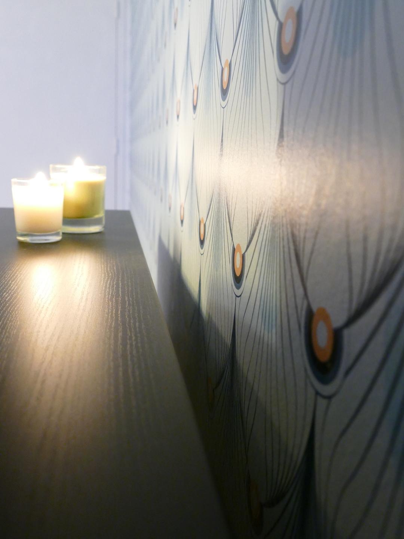 bougies papier peint