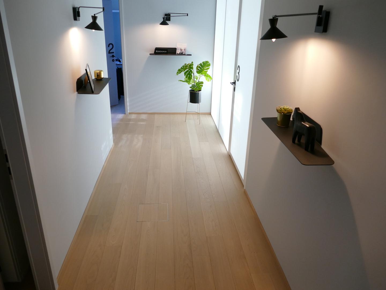couloir lampes