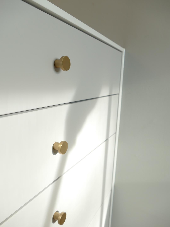 meuble corian boutons laiton